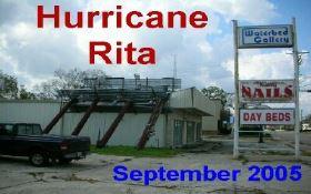 hurricane rita, louisiana, september, 2005